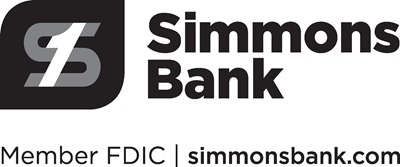 Simmons Bank Logo, Member FDIC